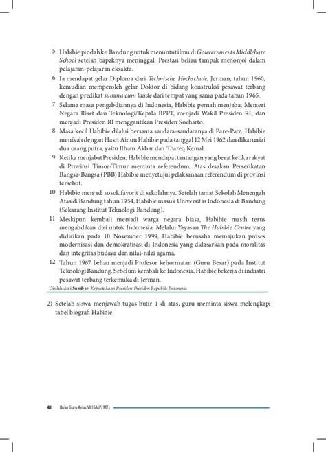 tabel biografi habibie materi bahasa indonesia kelas 8 akasaryonusuke