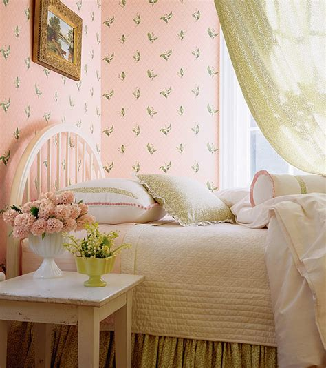 vintage inspired bedrooms wonderful vintage style wallpaper for a 40s 50s or 60s