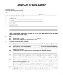 Contract Of Employment Uk Template by Employment Contract 9 Documents In Pdf Doc
