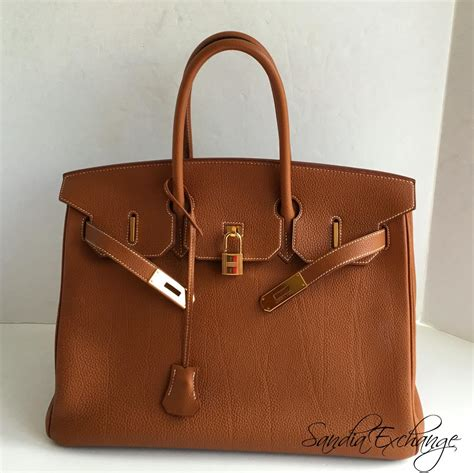 H Ermes So by Hermes Gold Togo Birkin 35cm Palladium Hardware Hermes