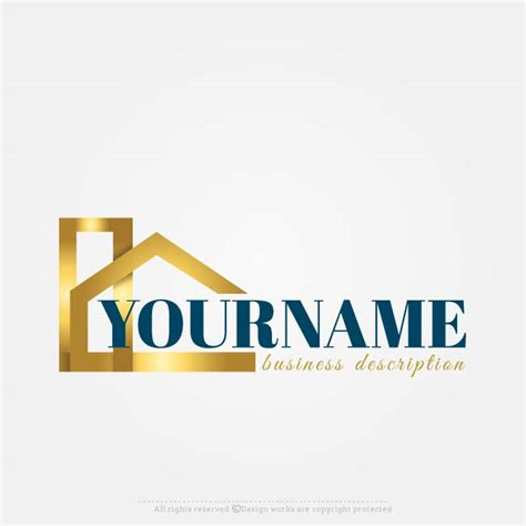 online free logo maker real estate logo designs