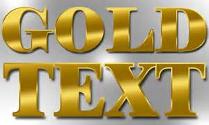 gold font color realistic gold gradient photoshop text effect tutorial