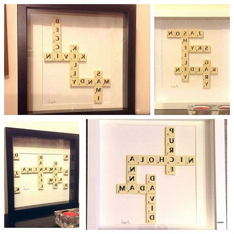collection  scrabble letter wall art