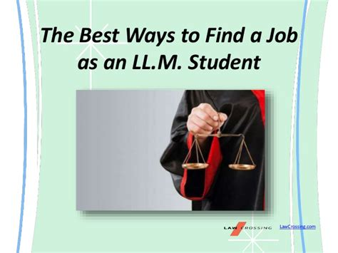 Best Way To Find On The Best Ways To Find A As An Ll M Student
