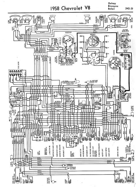 1958 Chevrolet Wiring Diagrams - 1958 Classic Chevrolet