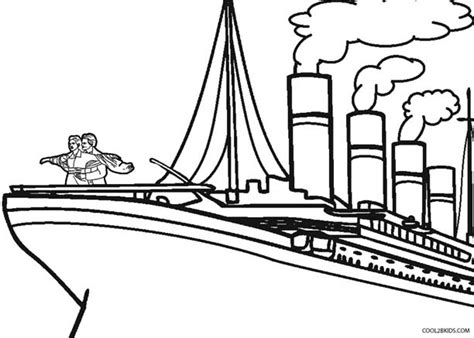 free coloring pages of titanic ship picture