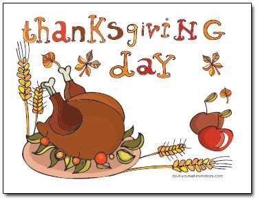 free thanksgiving greeting card templates printable thanksgiving invitation postcard template