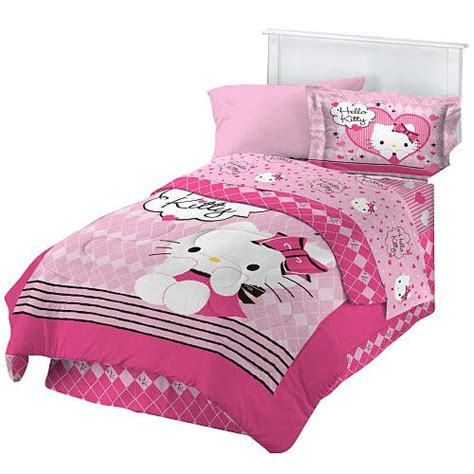 hello kitty twin bedding set hello kitty sweet and sassy twin comforter set kate e