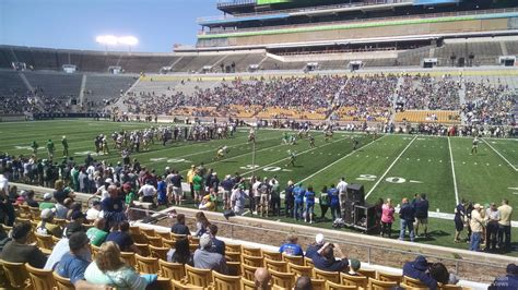 football section notre dame stadium visitor preferred seating