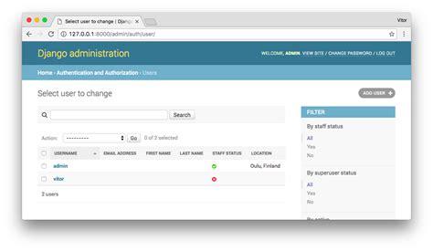 django tutorial user profile how to add user profile to django admin
