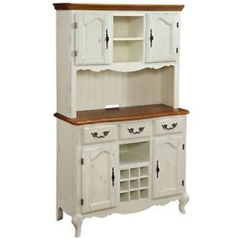 white kitchen buffet cabinet country cottage white wood buffet hutch sideboard kitchen pantry cabinet ebay
