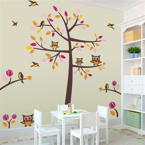 salon de jardin ikea 395 sticker mural enfant arbre avec des oiseaux et des hiboux