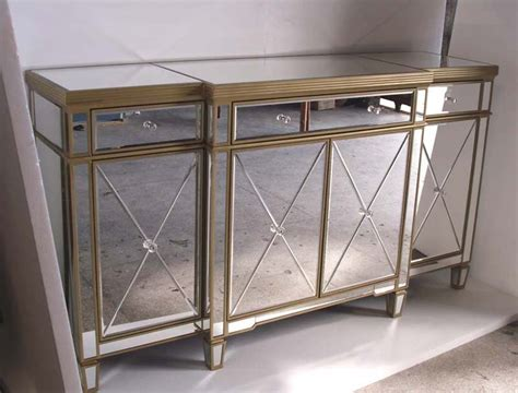 Mr 401062b Glass Mirrored Cabine T Buffet Mirrored Mirrored Buffet Console Table
