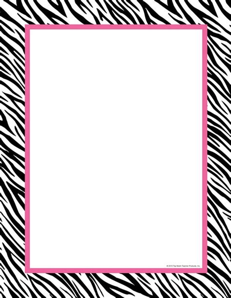 printable zebra border paper zebra print clip art border 101 clip art
