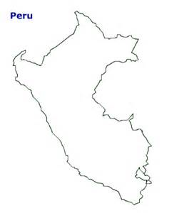 map of outline geography peru outline maps