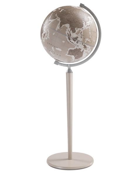 Floor Standing Globe by Vasco De Gama Floor Globe Italian World Globe Grey