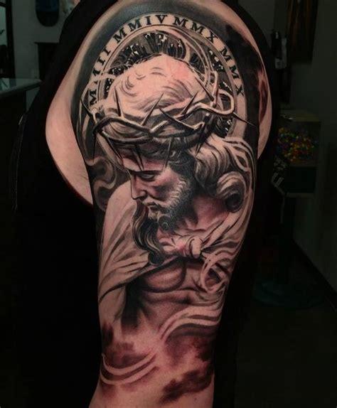 tattoo jesus cristo braço jesus christ tattoo andrew agelessarttattoos medium