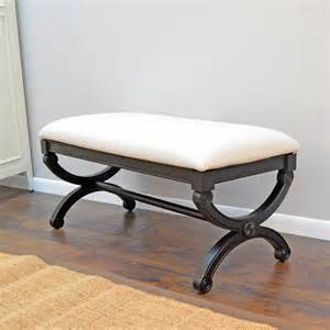 Overstock Bedroom Benches Upholstered Duck Bench Contemporary