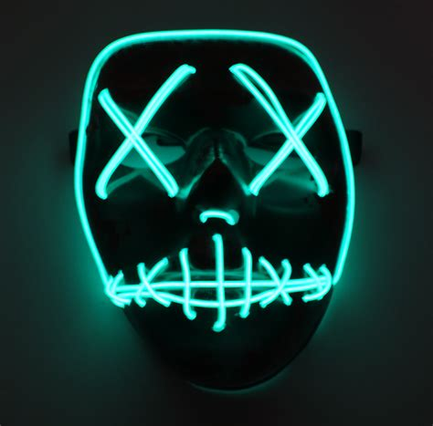 light mask best the purge election year led light up mask festival