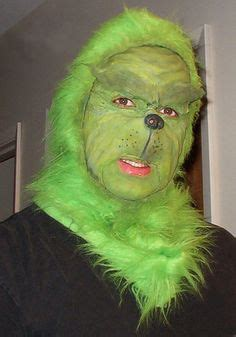felt grinch pattern step by step process of how i achieved this grinch makeup