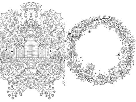secret garden coloring book page one free johanna basford coloring pages