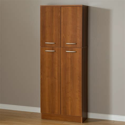 kitchen storage cabinets with doors south shore axess 4 door storage pantry morgan cherry