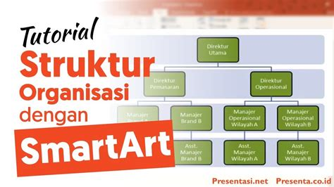membuat struktur organisasi pada power point video smartart struktur organisasi pada powerpoint youtube
