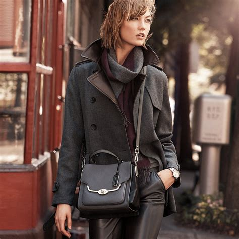 Botkiers Katy East West Satchels by Karlie Kloss In Coach Fall 2013 Caign Pictures