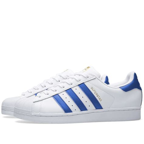 Adidas Blue adidas superstar foundation white blue the sole supplier