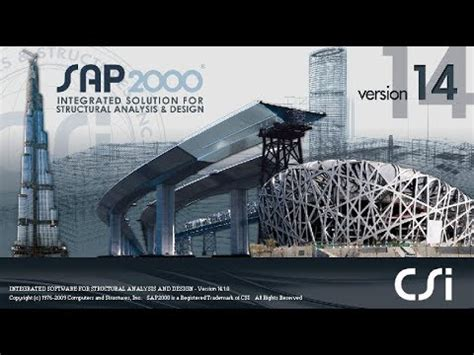 tutorial sap2000 v14 pdf introductory tutorial 1 sap2000 v14 wow youtube