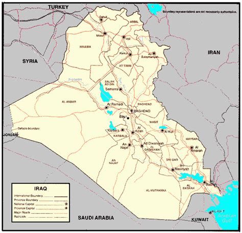 map for iraq iraq special weapons facilities