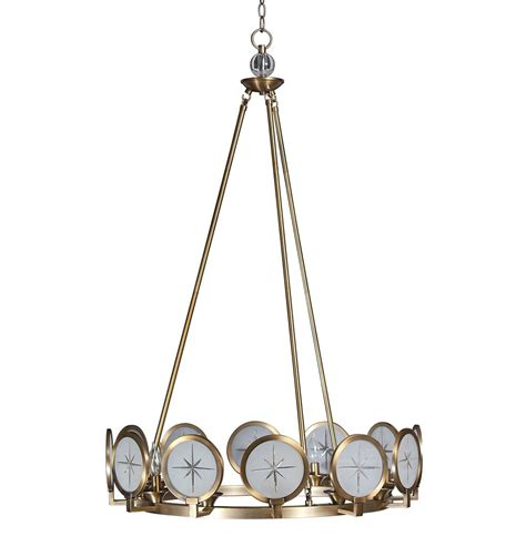 Nautical Chandeliers Cecil Nautical Compass Modern Brass Chandelier