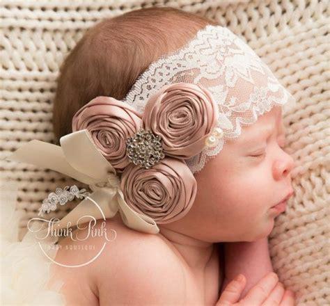 white headbandpink baby headbandchristening by thinkpinkbows best 25 diademas para bautizo ideas on tiara