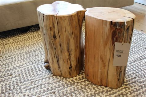 tree stump side table creative design of tree trunk side table for home