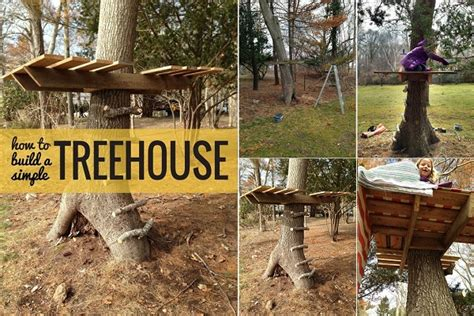 simple backyard tree houses easy way to build a treehouse home design garden architecture blog magazine