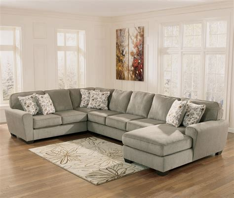 ashley sofa with chaise ashley furniture patola park patina 4 piece sectional