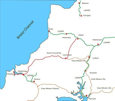 cornwall map cornwall railway