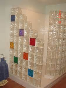 To use a double ended glass block for a bath kitchen or office wall