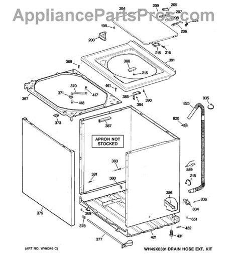 ge washer diagram ge wh1x2727 washer tub dening