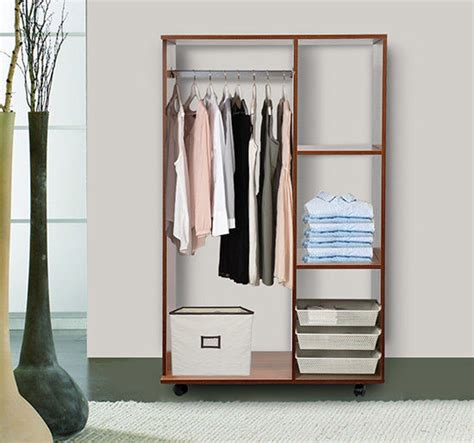 shelves for clothes in bedroom single mobile open wardrobe storage shelves organizer with
