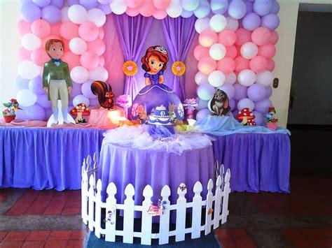 cumplea 241 os decorado de princesa sof 237 a tips de madre arreglos para fiesta sofia pkelandia fiesta princesita