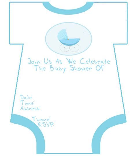 Baby Shower Invitations Printable Templates baby boy invitation templates orderecigsjuice info