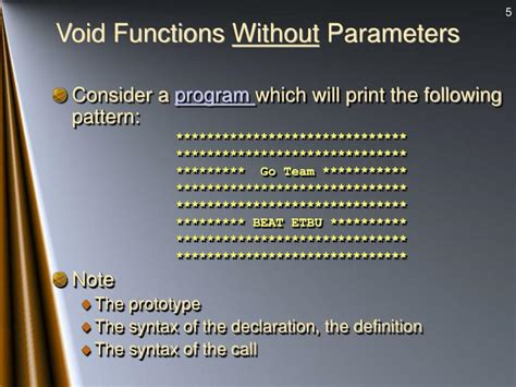 voiding pattern definition ppt user defined functions powerpoint presentation id