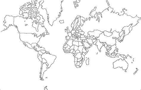 mapa del mundo en blanco y negro mapamundi fisico mudo en blanco