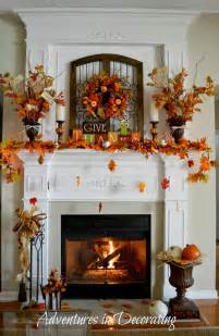 fireplace decorations adventures in decorating our fall mantel