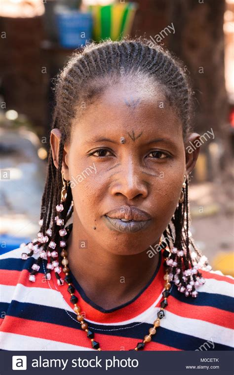 lips tattoo in ghana fulani woman stock photos fulani woman stock images alamy