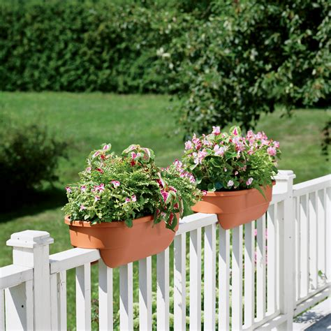 Deck Railing Flower Planters by Rail Planter Holder Images