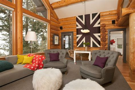 modern cabin interior beyond the aisle home envy log cabin interiors