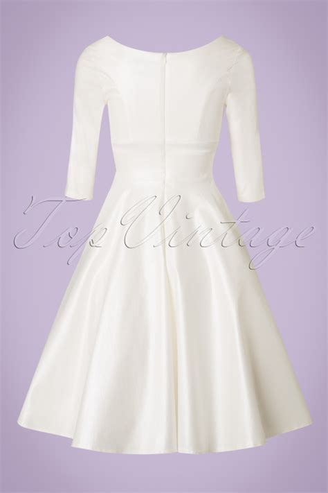 white swing dress wedding 50s dorothy bridal swing dress in ivory