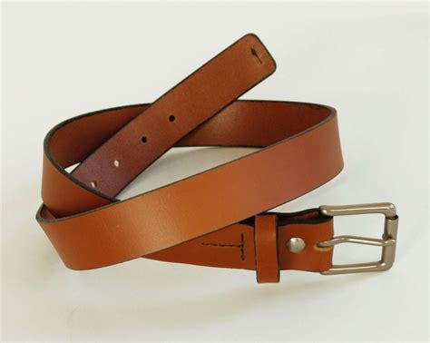 Handcrafted Leather Belt - mens light brown leather belt handmade leather belt